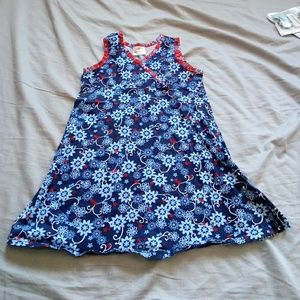 Hanna Andersson red white blue dress size 6/7
